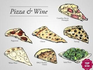 Kết hợp Rượu vang với Pizza